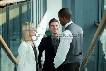 Business team discussing in workplace