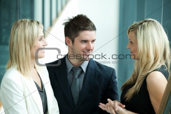 Business people discussing in workplace