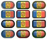 twelve buttons of the Flag of andorra
