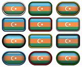 twelve buttons of the Flag of aZerbaijan