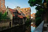 Canals and buildings in Brugge, Belgium