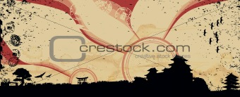 Cityscape Japan vector illustration