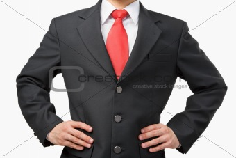 Akimbo businessman body