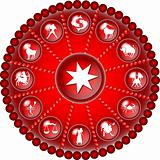 red zodiac disc