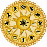 golden zodiac disc