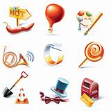 Vector cartoon style icon set. Part 11