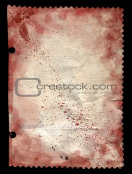 Old paper and blood