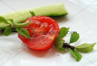 Tomato and cucumber2
