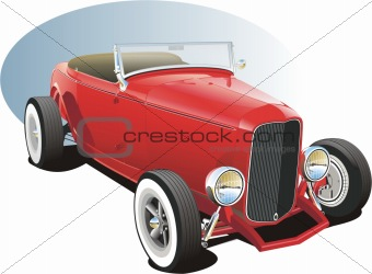 Red vintage hot rod