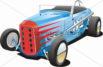Old blue vintage race car