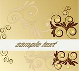 Floral art abstract vector background