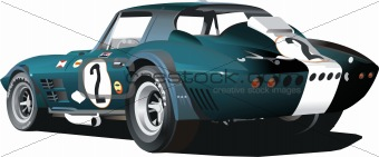 Blue classic American race car