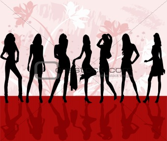 Sexy fashion girls - vector