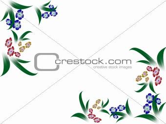 Framework with flowers