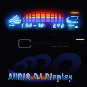Audio DJ display