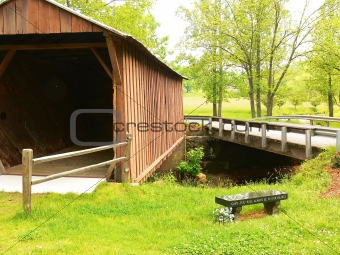Closed wooden bridge  70034