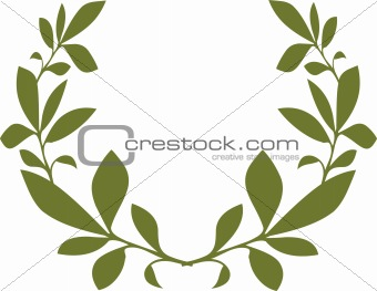 Green flower template vector image