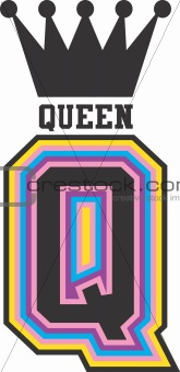 Queen with crown design image