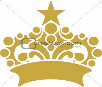 Crown Vector designed graphic illustration