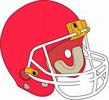 Football helmet design image