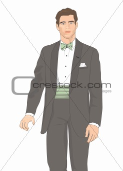 Groom design clip art illustration