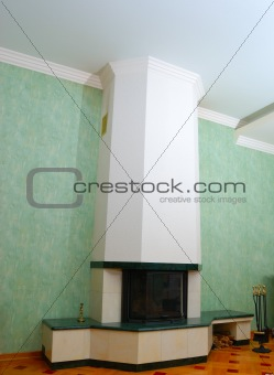 Fireplace with some fire tools