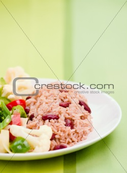 Caribbean Style Rice with Vegetables