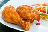 Fried chicken with Sauce - Caribbean Style