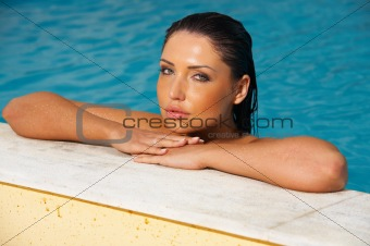 Beauty in pool