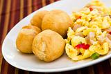 Vegetable Dumpling with Saltfish