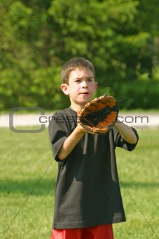 Boy Playing Catch
