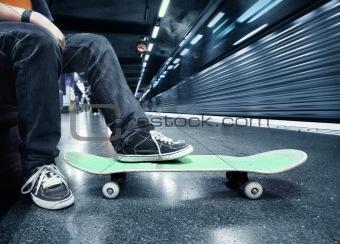 Boy at the subway