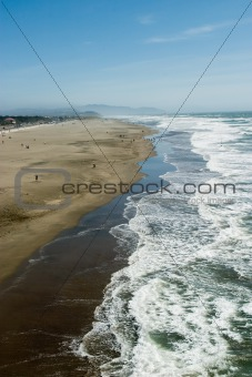 Areal View of Ocean Beach San Francisco