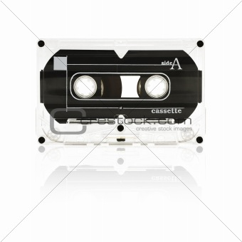Audio Tape Cassette (isolated on white)