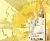 Grunge Urban Building Background.