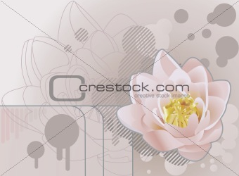 Future grunge lotus background