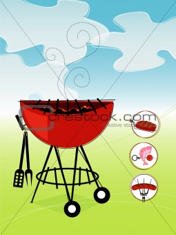 Retro Barbeque (vector)