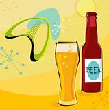 Retro Beer Motif (Vector)