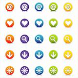 Colorful Web Icons Set 1 (Vector