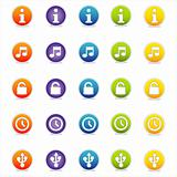 Colorful Web Icons Set 3 (Vector)