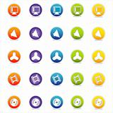 Colorful Web Icons Set 6 (Vector)