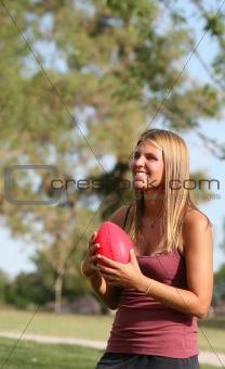 Football Tossing Girl