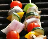 Fresh Kabobs Cooking