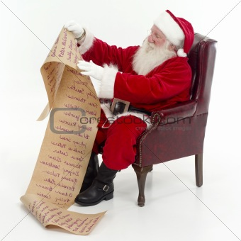 Santa checking list