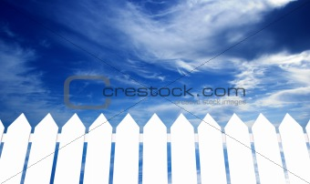 Sky over the fence