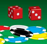 poker chip n dice