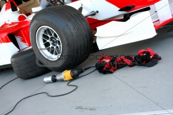 Formula-1 pit-stop