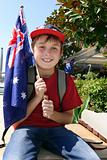 Boy with Australian Flag