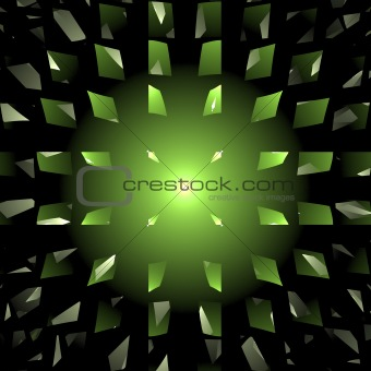 Abstract elegance background. Black - green palette.