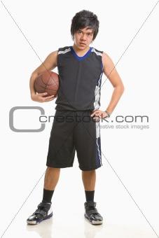 Basketball player pose